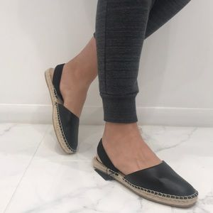 Zara Basic sandals Black and cream size 39